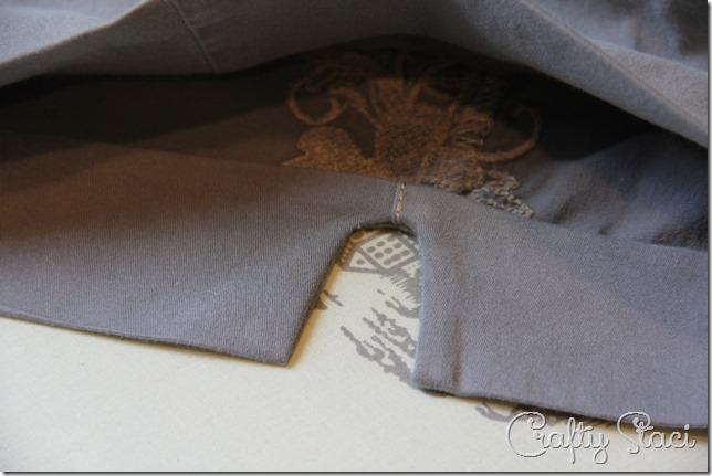 Adding a Side Slit to Shorts - Crafty Staci 5