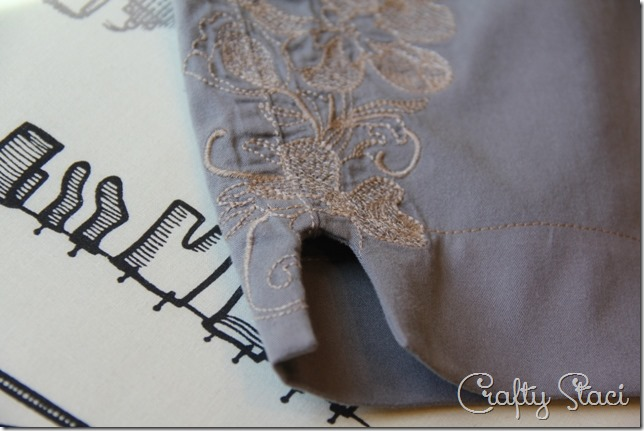 Adding a Side Slit to Shorts - Crafty Staci 6
