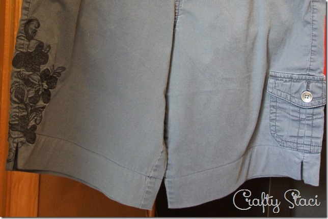 Adding a Side Slit to Shorts - Crafty Staci 8