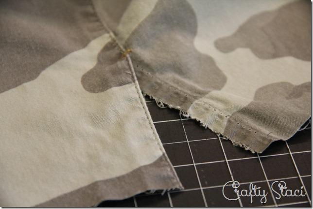 Adding a Side Slit to Shorts - Crafty Staci 9