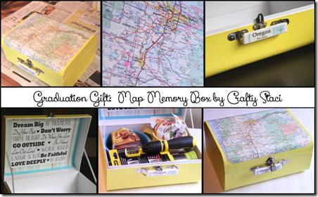 Map Memory Box by Crafty Staci