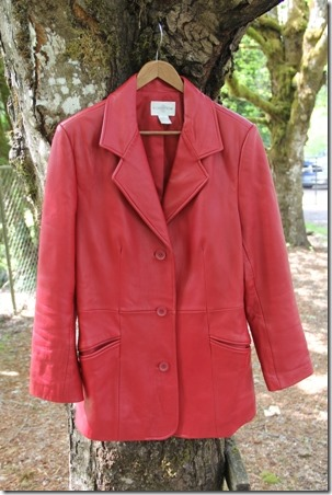 Red Leather Coat Refashion - Crafty Staci 2