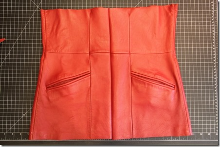 Red Leather Coat Refashion - Crafty Staci 4