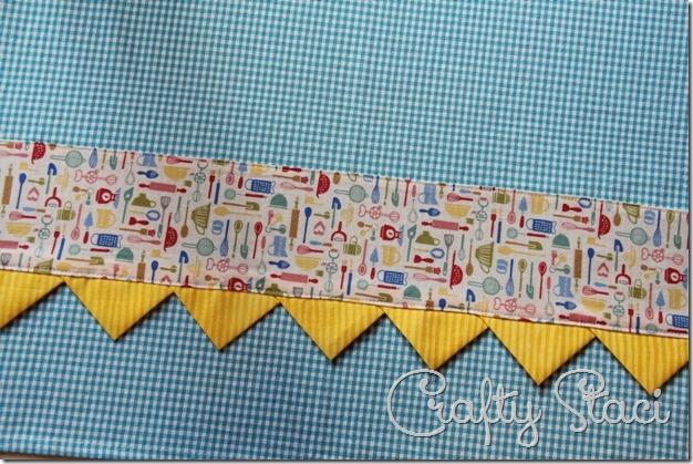 Embellished Kitchen Towels - Crafty Staci 11