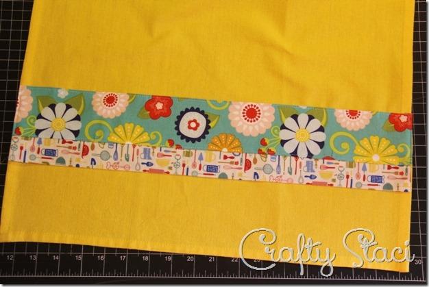 Embellished Kitchen Towels - Crafty Staci 6