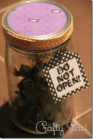 Halloween Spider in a Jar - Crafty Staci 13