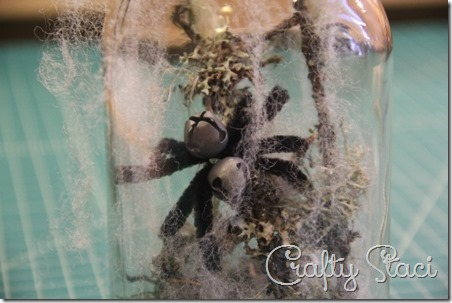 Halloween Spider in a Jar - Crafty Staci 7