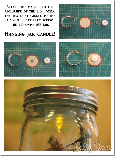How to Create a Hanging Light Inside a Mason Jar - Crafty Staci