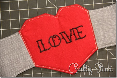 Heart and Arrow Coffee Sleeve - Crafty Staci 11