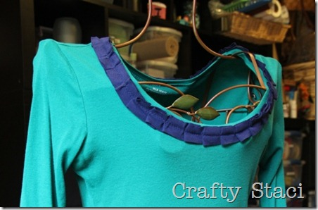 Long Sleeved Shirt Refashion - Crafty Staci 10