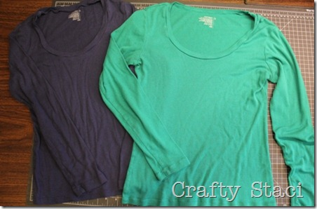 Long Sleeved Shirt Refashion - Crafty Staci 2