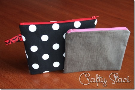 Easy Lined Zippered Bag - Crafty Staci 1