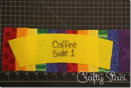 Rainbow Coffee Sleeve - Crafty Staci 4
