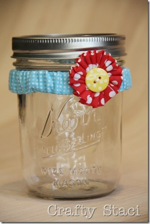 Mason Jar Scrunchie - Crafty Staci 13