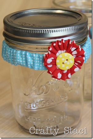 Mason Jar Scrunchie - Crafty Staci 1