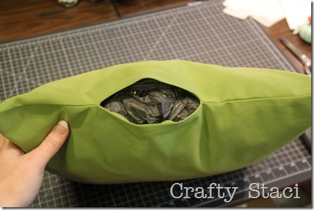 Outdoor Pillows Stuffed with Plastic Bags - Crafty Staci 4