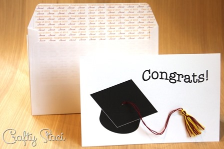 Tassel Graduation Card with lined envelope