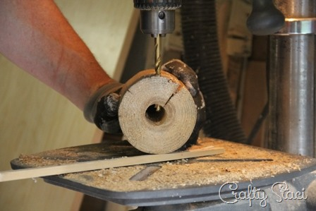 Drilling hole for cord