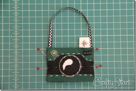 Felt Camera Ornament Step 8 - Crafty Staci