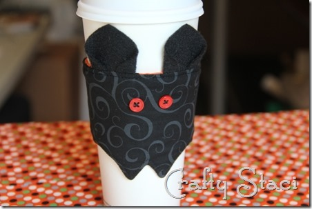 Coffee Sleeve of the Month - Halloween Bat - Crafty Staci 11