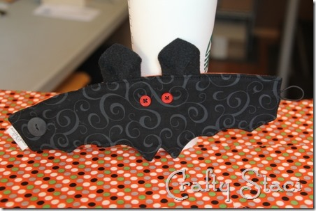 Coffee Sleeve of the Month Halloween Bat - Crafty Staci 1