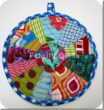Scrappy Potholder from Fairy Face Designs