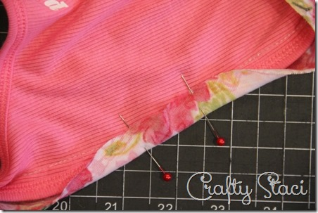 Adding Floral Trim to a Basic Tank - Crafty Staci 6