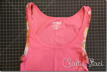Adding Floral Trim to a Basic Tank - Crafty Staci 7