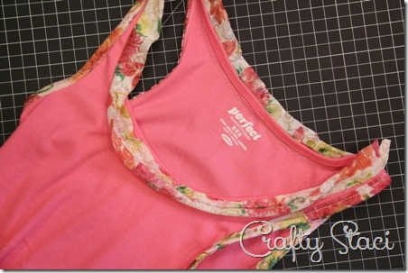 Adding Floral Trim to a Basic Tank - Crafty Staci 8