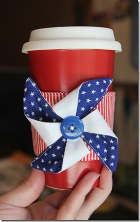 Pinwheel Coffee Cup Sleeve - Crafty Staci 1