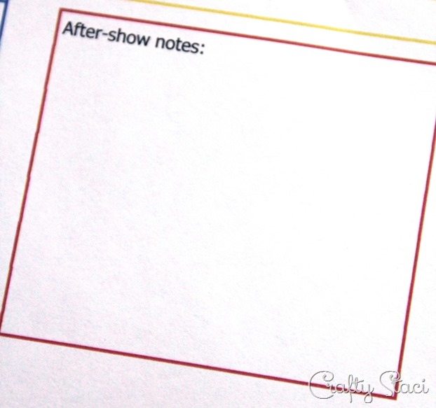 Craft Show Tracking Sheet After Show Notes