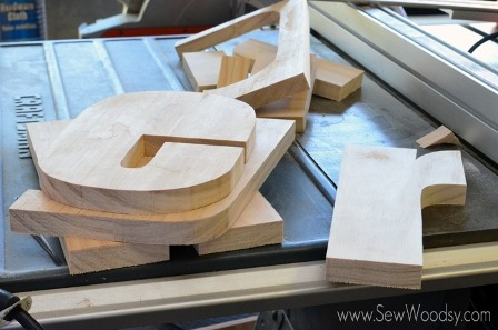 Cut Letters Using a Scroll Saw from Sew Woodsy