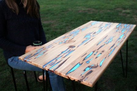 Glow Table from mikeasaurus on Instructables