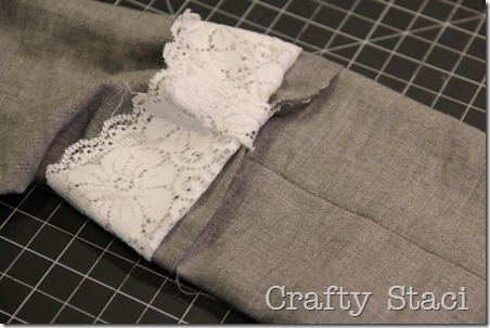 Linen and Lace Infinity Scarf - Crafty Staci 8