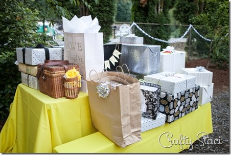 Gift table - Crafty Staci