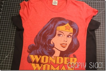 Wonder Woman Shirt Remodel - Crafty Staci 11
