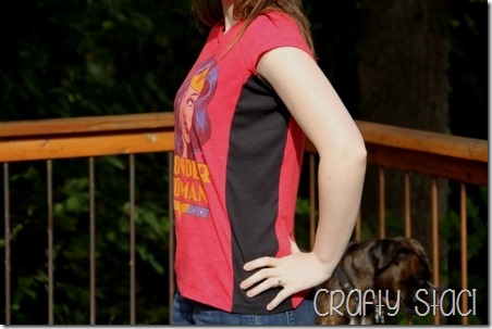 Wonder Woman Shirt Remodel - Crafty Staci 13