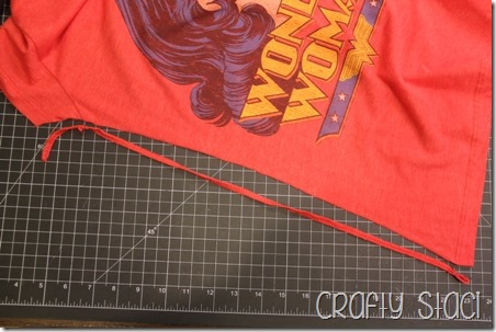 Wonder Woman Shirt Remodel - Crafty Staci 4