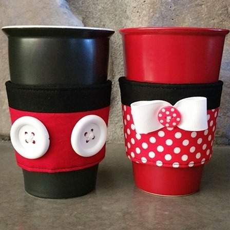 Mickey and Minnie Coffee Cozies