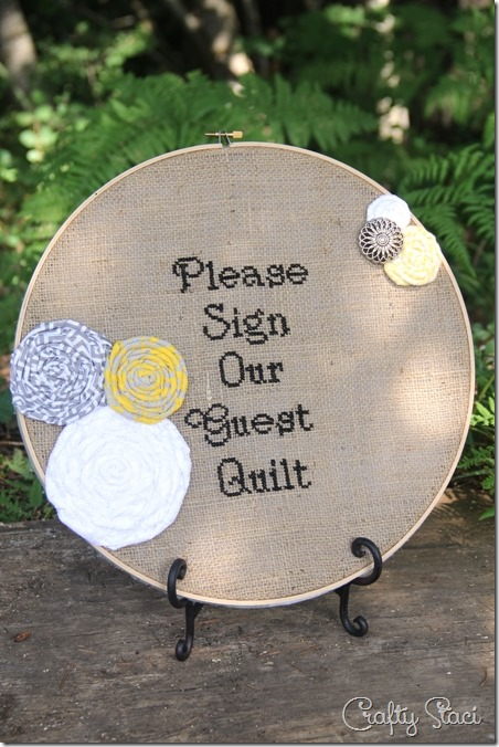Please Sign Our Guest Quilt Cross Stitch - Crafty Staci