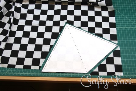 Cut out bunting triangles