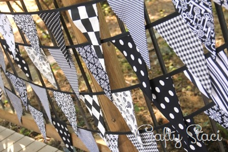 Fabric Bunting from Crafty Staci