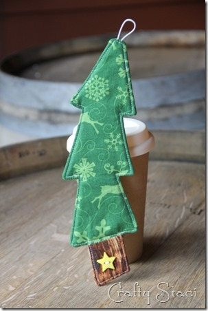 Christmas Tree Coffee Sleeve - Crafty Staci 1