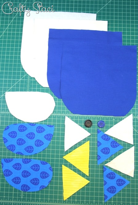 Pieces to cut for Bluebird