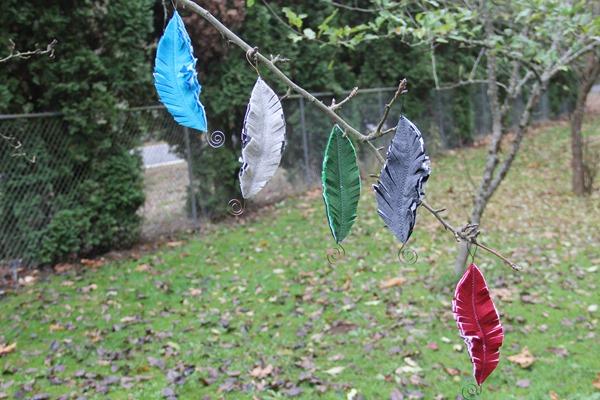 Felt Feather Ornaments by Crafty Staci