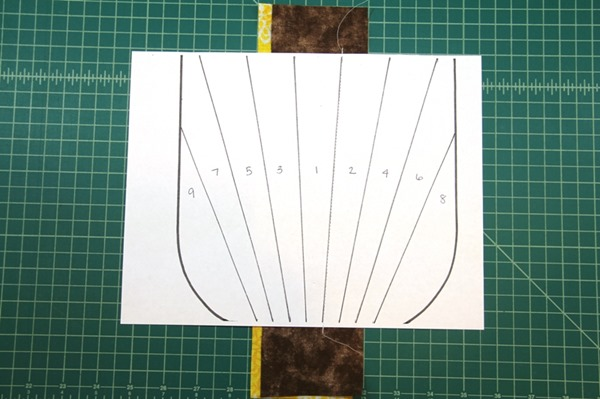 Paper piecing sections 1 and 2