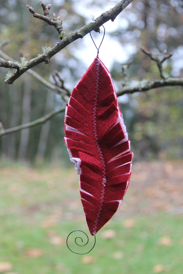 Red Feather Felt Ornament from Crafty Staci