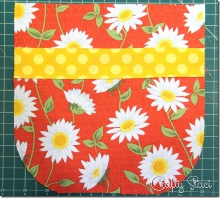Attaching accent strip - Crafty Staci