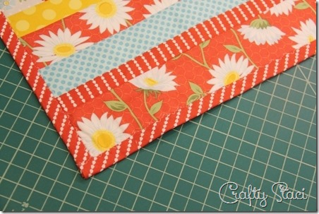 Binding the short edges - Crafty Staci