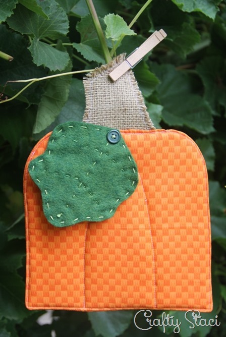 Pumpkin Hot Pad from Crafty Staci